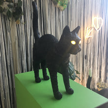 Jobby the Cat Lamp- Black