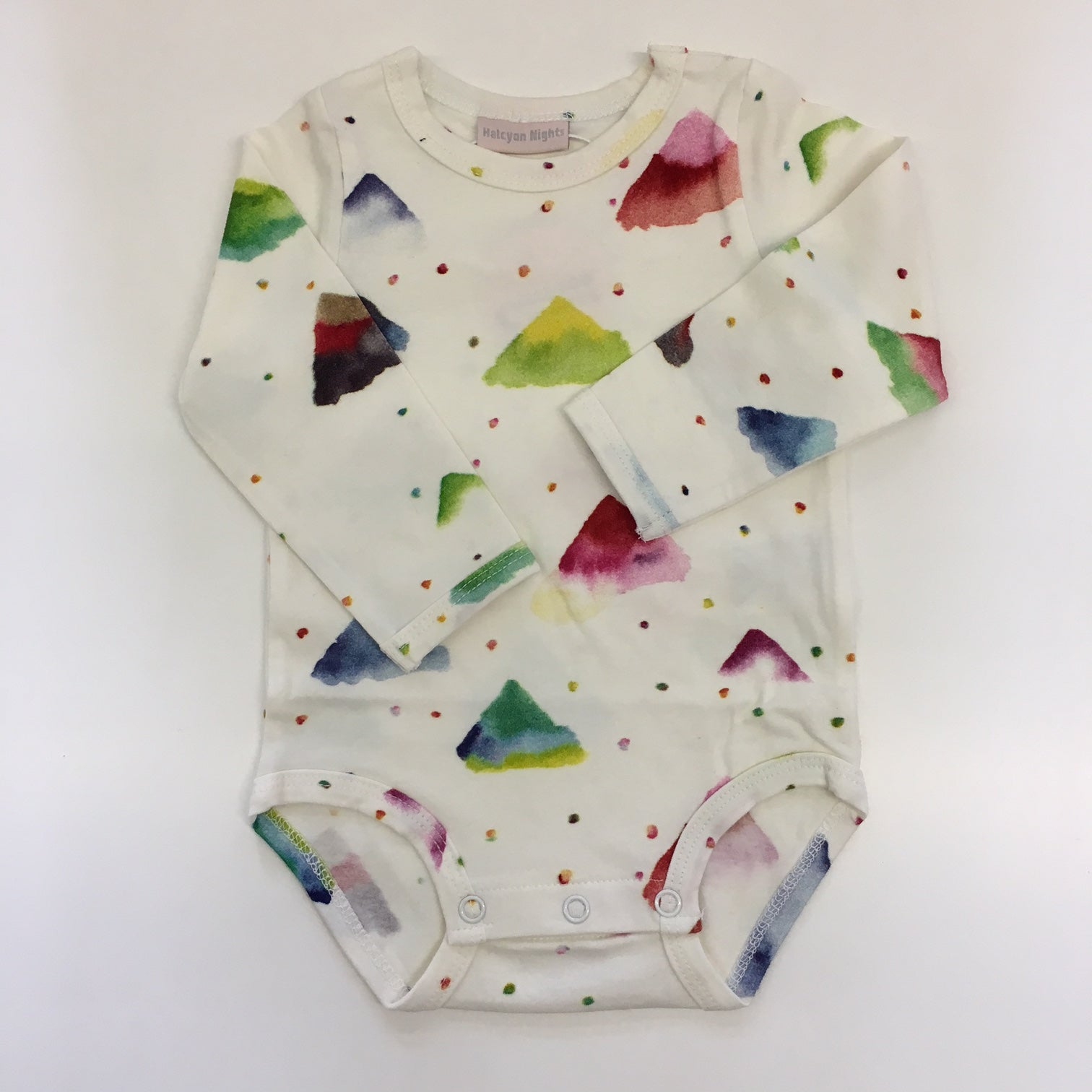 Long Sleeve Baby Onesie- Candy Mountain