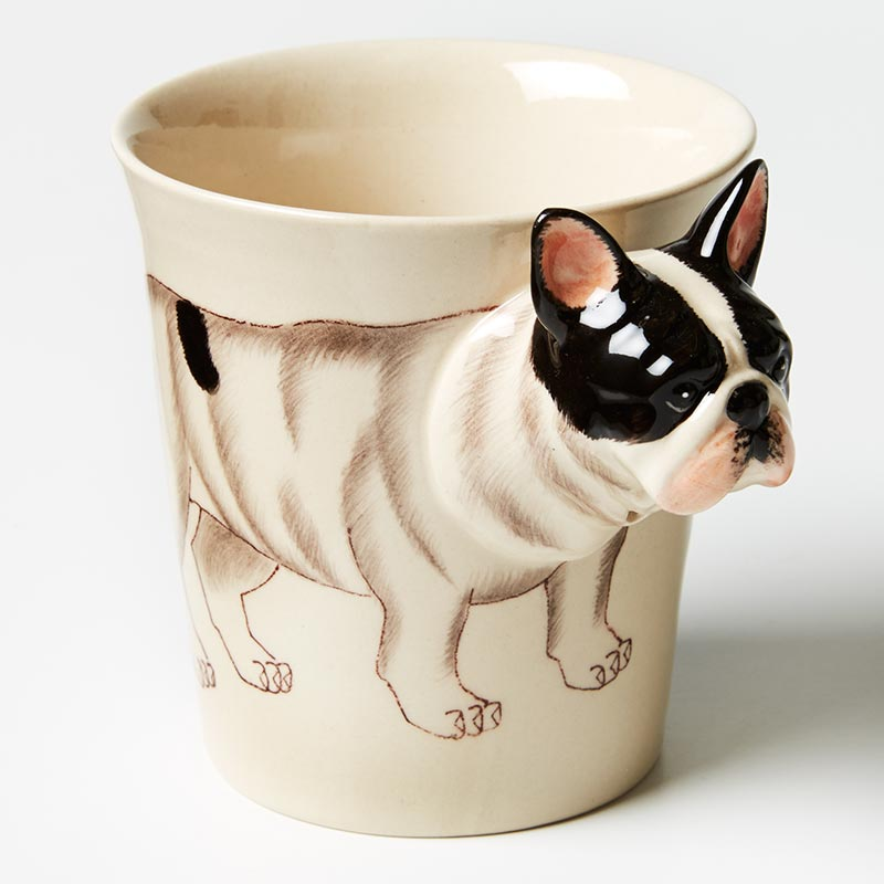 Tailwagger Mug- Frenchie Black & white