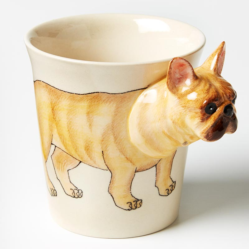 Tailwagger Mug- Frenchie Tan