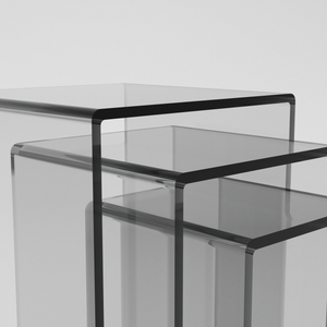 Perspex® Acrylic Tower Side Tables in 3 sizes