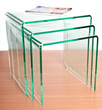 Premium Perspex® Acrylic Nested Tables glass effect