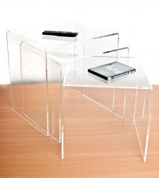 Premium Range Perspex® Acrylic Nested Tables. 2 finishes