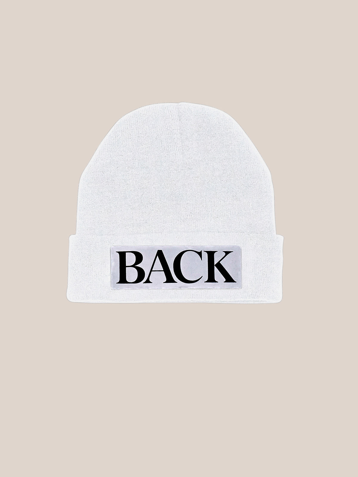 Reflective Knitted Hat White