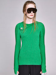 Knit Abstract Long Sleeve Sweater