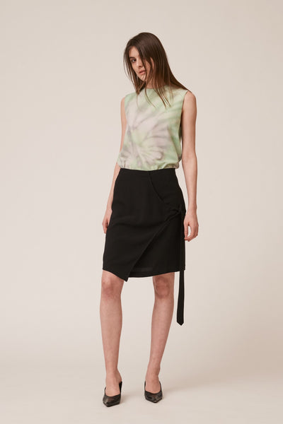 Overlap Belt Skirt