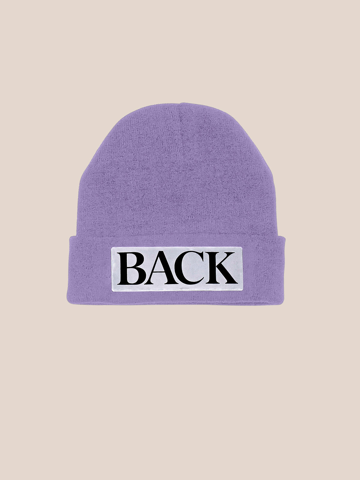 Reflective Knitted Hat Lilac