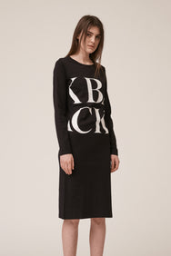 Scrabble Logo Dress Black