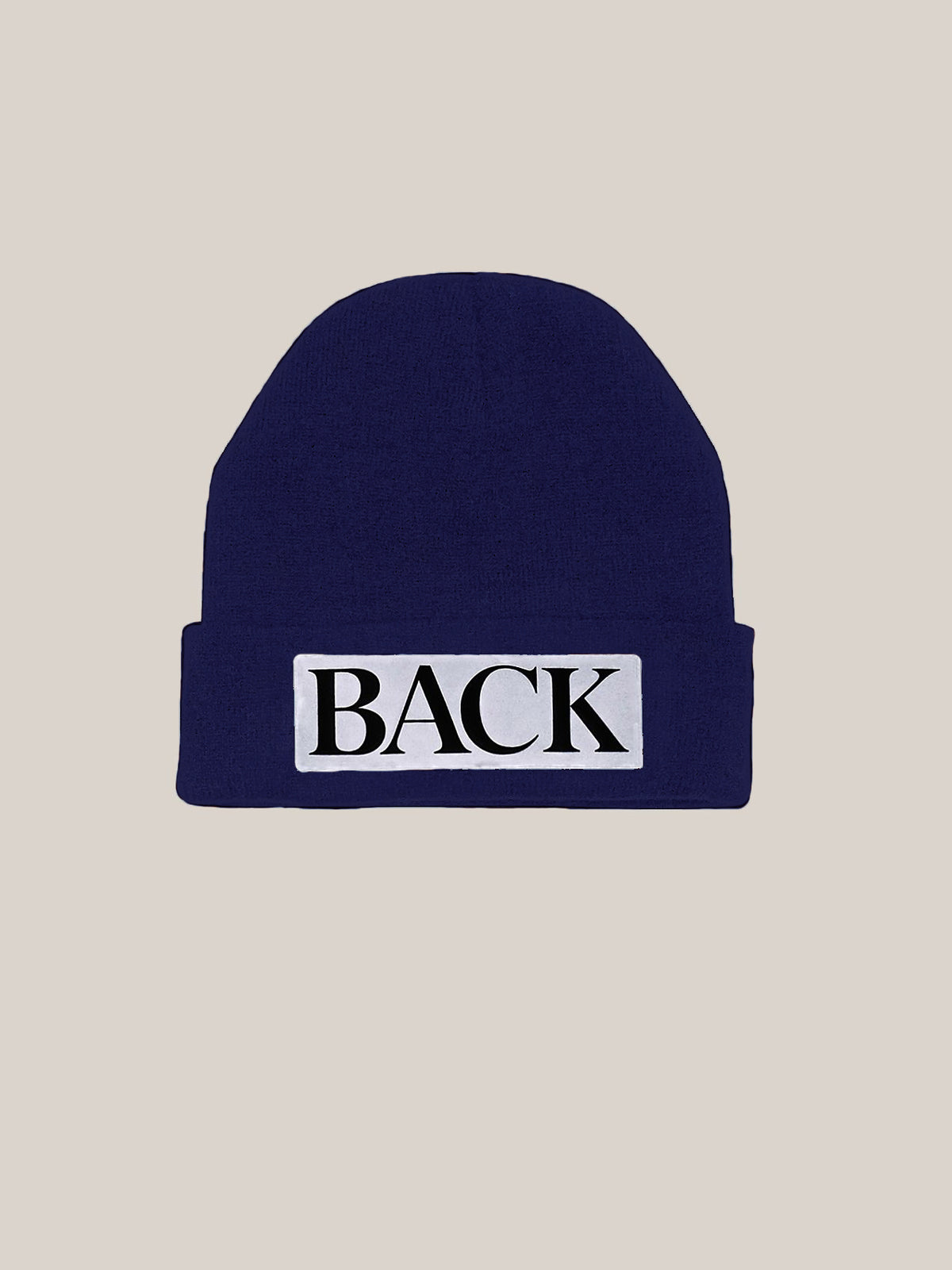 Reflective Knitted Hat Navy
