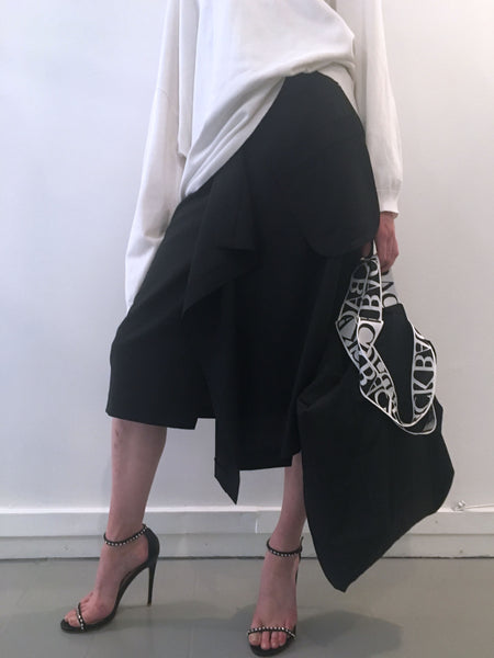 Irregular Suiting Skirt