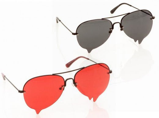 Blood Dripping Sunglasses - Red