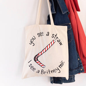 Britney Straw Tote Bag