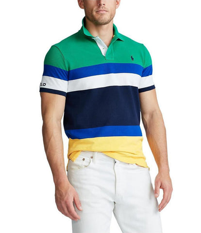 Polo Small Pony Classic Fit Stripe Green Colorblock