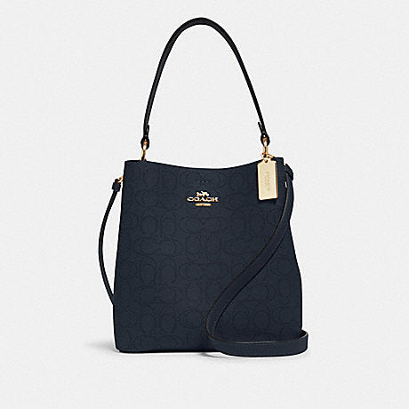 Coach Town Bucket In Signature Midnight Rose