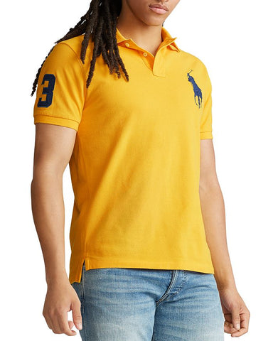 Polo Big Pony Custom Slim Fit Mesh In Yellow