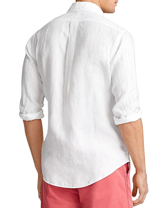 Classic Fit Linen Shirt In White