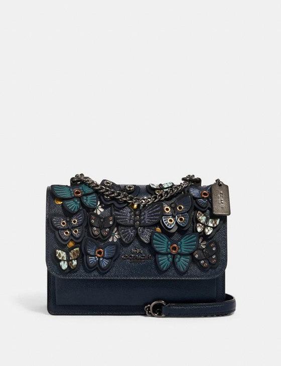 Pre-order ETA 25th Sept: Coach Klare Crossbody In Midnight With Butterfly Applique