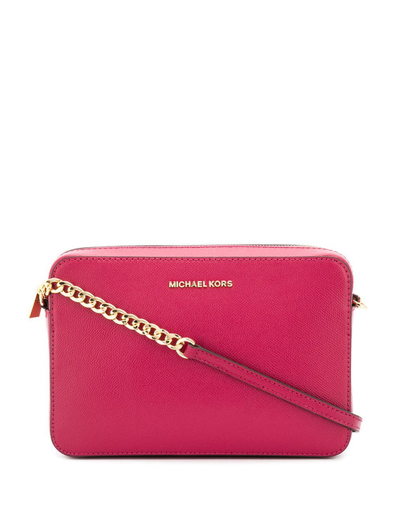 Michael Kors EW Crossbody In Leather Electric Pink