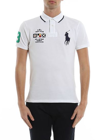 Polo Big Pony Custom Slim Fit Yacht Club In White