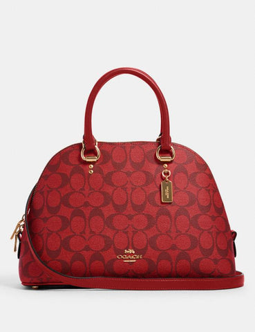 Coach Katy Satchel In Signature Red