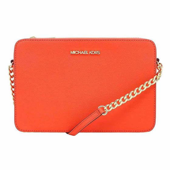 Michael Kors EW Crossbody In Leather Orange Mandarin