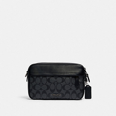 Coach Graham Crossbody In Signature Charcoal Black
