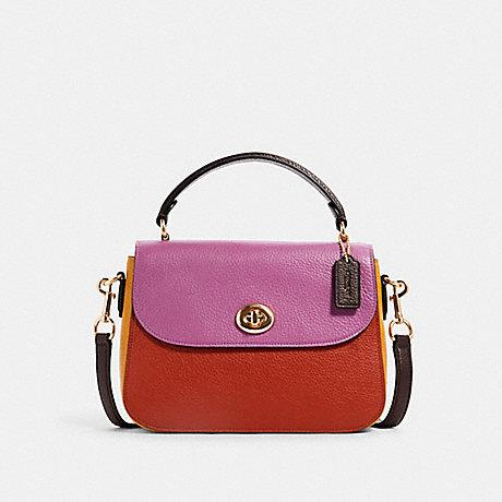Coach Marlie Top Handle Colorblock Terracotta Yellow