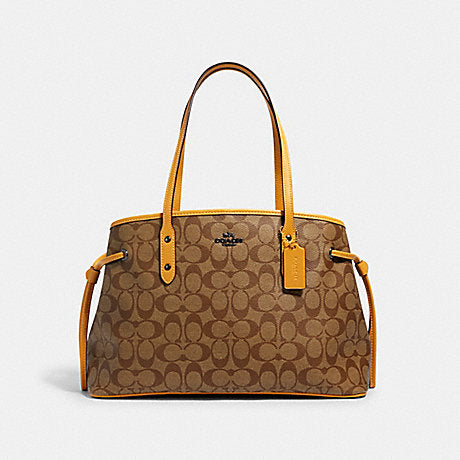 Coach Drawstring Carryall In Signature Honey