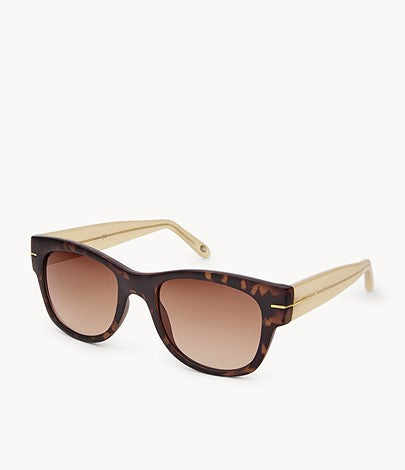 Fossil Women Wayfarer Sunglasses In Brown/Tortoise
