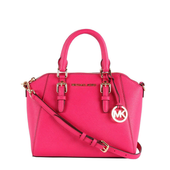 Michael Kors Ciara Medium Messenger Leather in Electric Pink