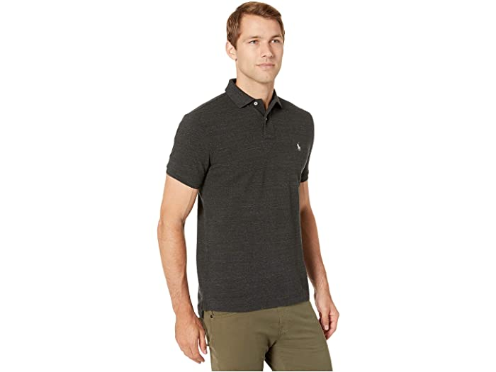 Polo Small Pony Custom Slim Fit In Black Heather