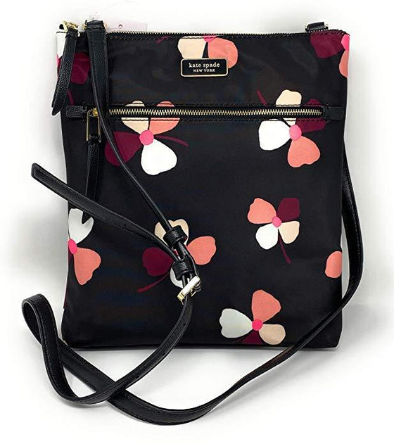 Kate Spade Flat Crossbody Dawn Dusk Buds Blackmulti