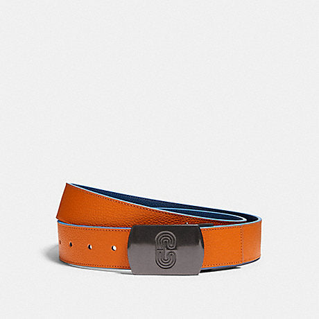 Coach Reversible Belt Plaque Buckle in Clementine Admiral