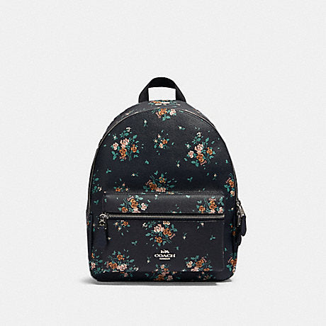 Coach Charlie Medium Backpack In Rose Midnight Multi