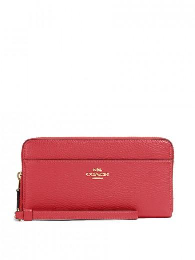 Coach Accordion Zip Wallet in Poppy