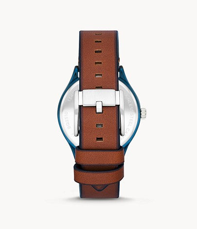 Men Wylie Multifunction Brown Leather Watch BQ2510