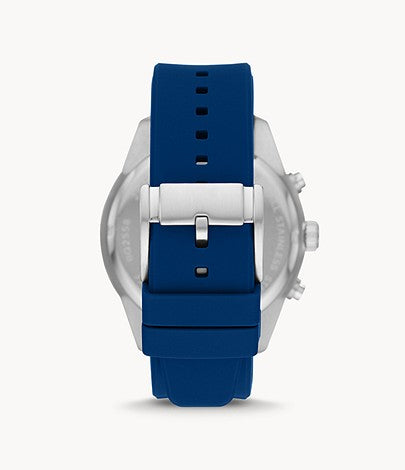 Fossil Men Brox Multifunction Blue Silicone Watch BQ2558