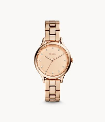 Fossil Laney Three-hand Rose-Gold-stone Stainless Steel Watch BQ3321