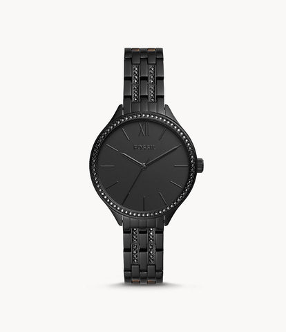 Fossil Suitor Three-Hand Black BQ3438