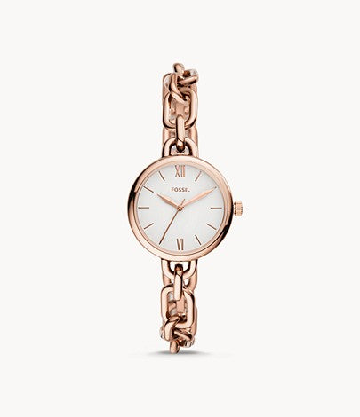 Women Embry Three-Hand Rose Gold-Tone Stainless Steel Watch