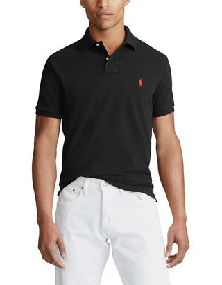 Polo Small Pony Custom Slim Fit In Black
