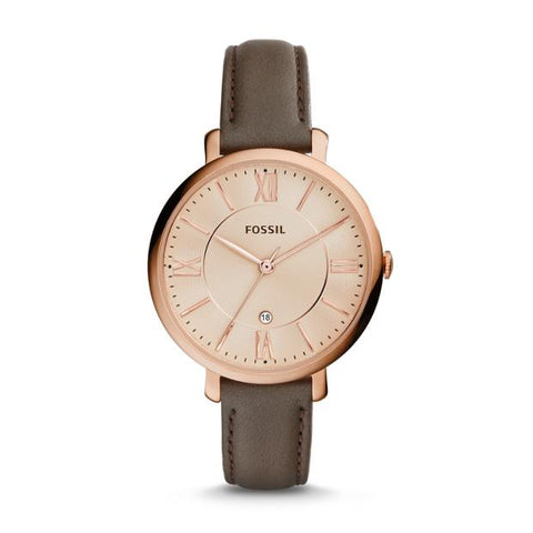 Fossil Jacqueline Leather Grey ES3707