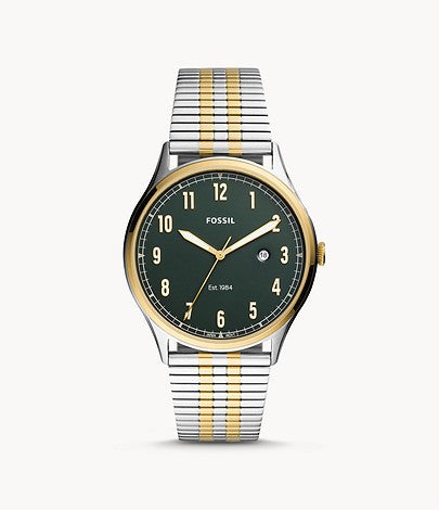 Men Forrester Three-Hand Date Two-Tone Stainless Steel Watch