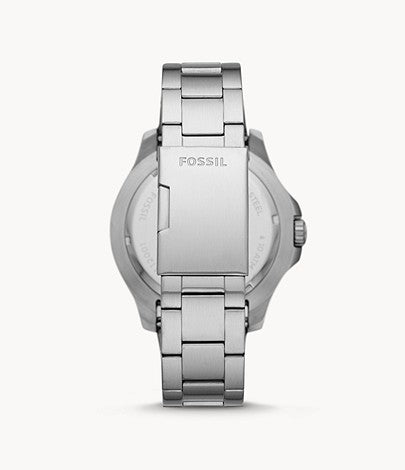 Fossil Men FB-02 Three-Hand Date Stainless Steel Watch FS5687