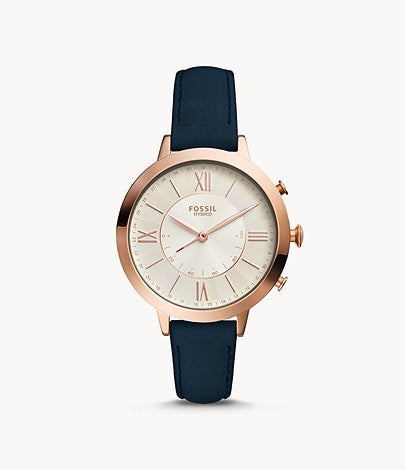 Fossil Hybrid Smartwatch Jacqueline Navy Leather FTW5014