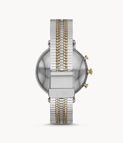 Fossil Women Hybrid Smartwatch Cameron Two-Tone Gold and Silver Stainless Steel FTW5057