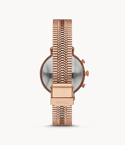 Fossil Women Hybrid Smartwatch Cameron Rose Gold-Tone Stainless Steel FTW5061