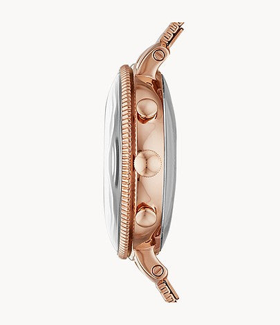 Fossil Women Hybrid Smartwatch Cameron Rose Gold-Tone Stainless Steel FTW5063