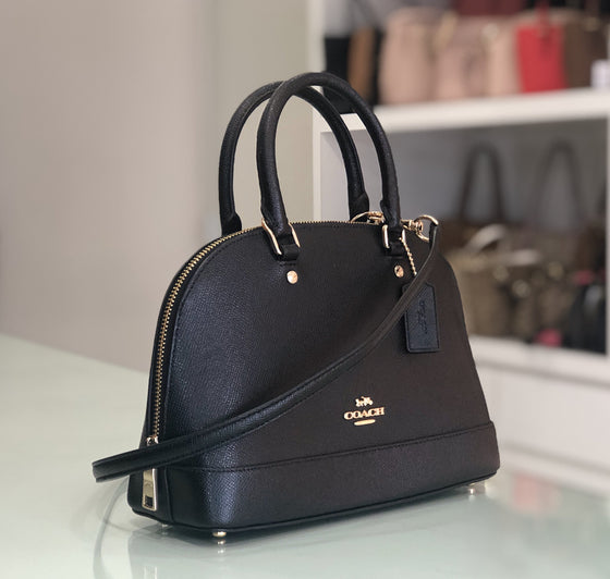 Coach Mini Sierra in Leather Black