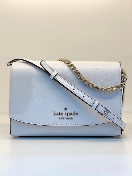 Kate Spade Carson Convertible Crossbody In White Dove